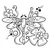 Woodware - Dragonfly - CLEAR MAGIC Stamp Set FRS159
